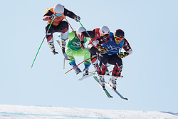 21.02.2018, Phoenix Snow Park, Bokwang, KOR, PyeongChang 2018, Freestyle, Ski Cross, Herren, im Bild Brady Leman (CAN), Armin Niederer (SUI), Brady Leman (CAN), Marc Bischofberger (SUI) // Armin Niederer of Switzerland Filip Flisar of Slovenia Brady Leman of Canada Marc Bischofberger of Switzerland during the men's Freestyle Ski Cross competition of the Pyeongchang 2018 Winter Olympic Games at the Phoenix Snow Park in Bokwang, South Korea on 2018/02/21. EXPA Pictures © 2018, PhotoCredit: EXPA/ Johann Groder