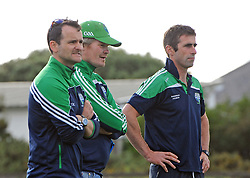 Watching the Mayo Junior Championship match Achill managment and selectors.<br /> Pic Conor McKeown