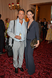 MARIA GRACHVOGEL and and her husband MIKE SIMCOCK at the Audi Ballet Evening at The Royal Opera House, Covent Garden, London on 23rd April 2015.