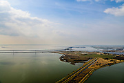 Nederland, Noord-Brabant, Bergen op Zoom, 01-04-2016; Zoommeer zoetwaterbuffer en opvangbassin voor oppervlaktewater bij hoogwater. Schelde-Rijnkanaal en Molenplaat, Bergsche Diep. Oosterschelde aan de horizon.<br /> Zoommeer freshwater buffer and mergency basin for surface water at high tide.<br /> <br /> luchtfoto (toeslag op standard tarieven);<br /> aerial photo (additional fee required);<br /> copyright foto/photo Siebe Swart