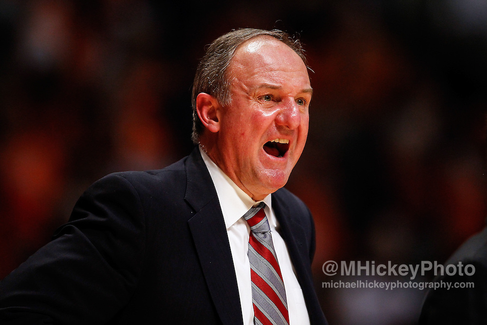 CHAMPAIGN, IL - JANUARY 05: Head coach Thad Matta of the Ohio State Buckeyes seen on the sidelines during the game against the Illinois Fighting Illini at Assembly Hall on January 5, 2013 in Champaign, Illinois. Ilinois defeated Ohio State 74-55. (Photo by Michael Hickey/Getty Images) *** Local Caption *** Thad Matta