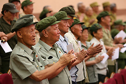 60243574  <br /> Chinese veterans attend the celebrating ceremony to mark the 60th anniversary of the Korean War Armistice Agreement in Pyongyang, the Democratic People s Republic of Korea (DPRK), <br /> Pyongyang, North Korea, <br /> Monday, July 29, 2013. <br /> Picture by imago / i-Images<br /> UK ONLY