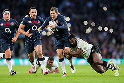 Alex Goode of England in action - Rogan Thomson/JMP - 19/11/2016 - RUGBY UNION - Twickenham Stadium - London, England - England Rugby v Fiji - Old Mutual Wealth Series.