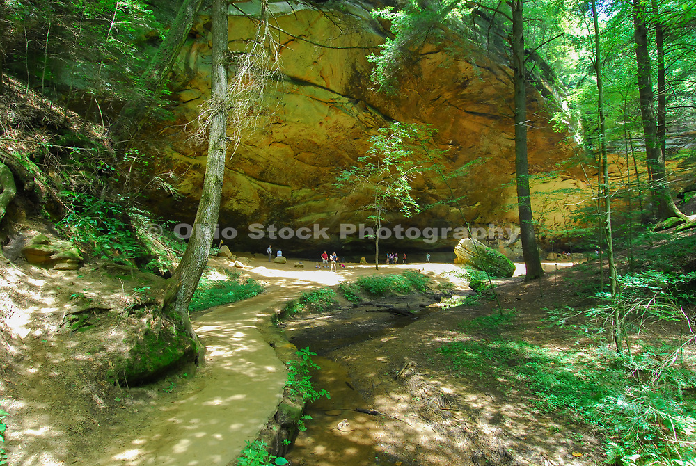 Ash Cave at Hocking Hills State Park, in Hocking County near Logan, Ohio, USA.
