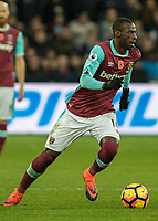 Football - 2016 / 2017 Premier League - West Ham United vs. Stoke City<br /> <br /> Pedro Obiang of West Ham at The London Stadium.<br /> <br /> COLORSPORT/DANIEL BEARHAM