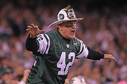October 17, 2011; East Rutherford, NJ, USA; Fireman Ed during the first half at the New Meadowlands Stadium.