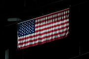 KELOWNA, CANADA - MARCH 03:  The USA Flag at the Kelowna Rockets game on March 03, 2018 at Prospera Place in Kelowna, British Columbia, Canada.  (Photo By Cindy Rogers/Nyasa Photography,  *** Local Caption ***