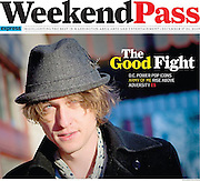 The Washington Post Express Weekend Pass Newspaper-  Vince Scheuerman, Lead Singer of the band Army of Me.
