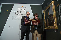Pictured:  Ralph McLean, Curator of Manuscripts for the Long 18th Century and Robert Betteridge, Curator of 18th Century Printed Collections<br /> <br /> A major exhibition exploring the Scottish Enlightenment, Northern Lights,  opens at the National Library of Scotland on Friday 21 June.<br /> The exhibition takes a fresh look at one of the most concentrated periods of intellectual enquiry the world has ever seen, a time when polymaths peer-reviewed, challenged and encouraged one another's work through the many social networks available to them.<br /> Household names connected with the Scottish Enlightenment such as David Hume and Adam Smith feature in the exhibition, as well as other figures less commonly associated with it such as Robert Burns and James Watt. A rare first edition of Encyclopaedia Britannica will be on display, as will a first edition of Smith's Wealth of Nations and countless unique manuscripts.<br /> <br /> Northern Lights is curated by Robert Betteridge, Curator of 18th Century Printed Collections, and Ralph McLean, Curator of Manuscripts for the Long 18th Century. It explores the Scottish Enlightenment through the display of rare books and manuscripts from 18th Century Scotland, and is grouped into themes: pre-Enlightenment Scotland, moral philosophy and religion, social science and academic innovation, language and literature, art and architecture, science and medicine, and sociability and society.<br /> Northern Lights opens on Friday 21 June and runs until 18 April 2020 at the National Library of Scotland, George IV Bridge, Edinburgh EH1 1EW. Entry is free.<br /> <br /> <br /> <br /> Ger Harley | EEm 20 JUne
