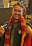 Spanish photographer KIKE CALVO dressed up as Harry Potter at Universal Theme Park