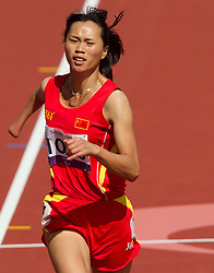 Yanping Wang of China competes in Women's 100m - T46 Heat 2 in athletics during Day 7 of the Summer Paralympic Games London 2012 on September 4, 2012, in Olympics stadium, London, Great Britain. (Photo by Vid Ponikvar / Sportida.com)