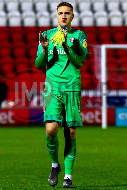 Daniel Iversen of Rotherham United - Mandatory by-line: Ryan Crockett/JMP - 16/11/2019 - FOOTBALL - Aesseal New York Stadium - Rotherham, England - Rotherham United v Accrington Stanley - Sky Bet League One