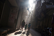 Views of Old Delhi's  electrical cabling systems in India Tuesday, Oct. 2, 2012 (Photo/Elizabeth Dalziel for Christian Aid)