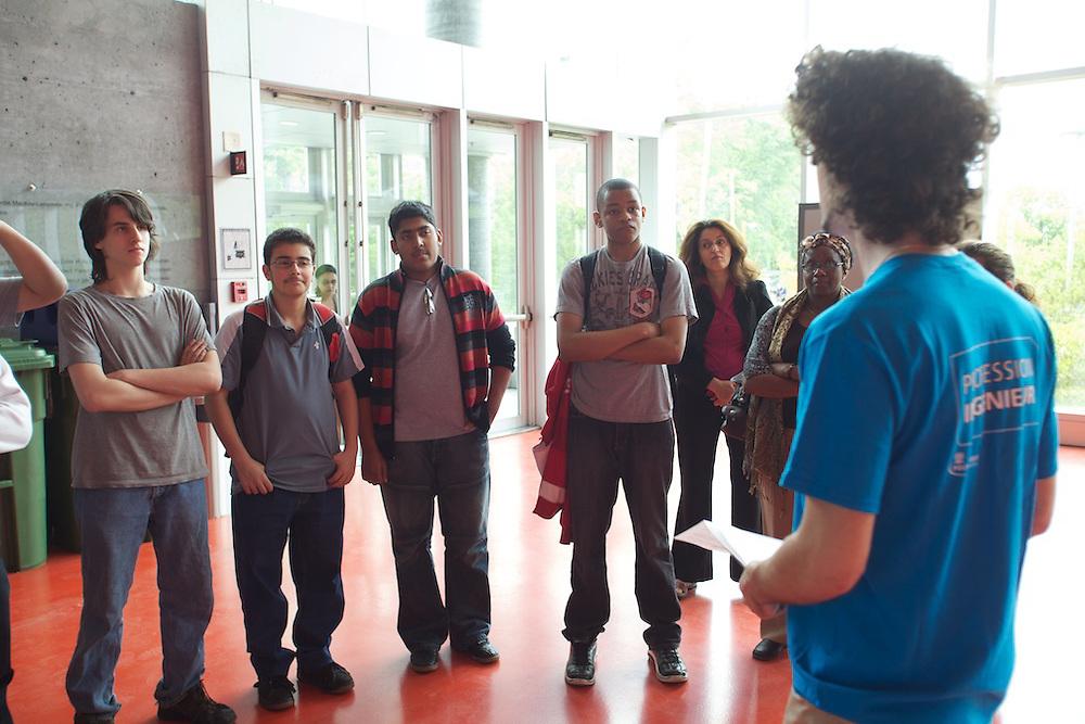 Youth Fusion - Fusion Jeunesse Saint-Henri students tour École Polytechnique in Montreal, Canada.