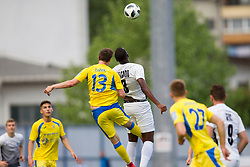 Zan Zuzek of NK Domzale and Raoul Junior Delgado of NK Ankaran Hrvatini during football match between NK Domzale and NK Ankaran Hrvatini in Round #30 of Prva liga Telekom Slovenije 2017/18, on May 2nd, 2018 in Sports Park Domzale, Domzale, Slovenia. Photo by Urban Urbanc / Sportida