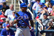 PHOENIX, AZ - MARCH 04:  Adrian Beltre #29 of the Texas Rangers stands at bat against the Milwaukee Brewers in the spring training game at Maryvale Baseball Park on March 4, 2017 in Phoenix, Arizona.  (Photo by Jennifer Stewart/Getty Images)
