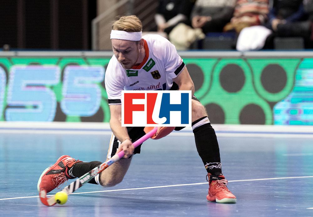 BERLIN - Indoor Hockey World Cup<br /> Men: Germany - Kazachstan<br /> foto: Christopher R&uuml;hr.<br /> WORLDSPORTPICS COPYRIGHT FRANK UIJLENBROEK