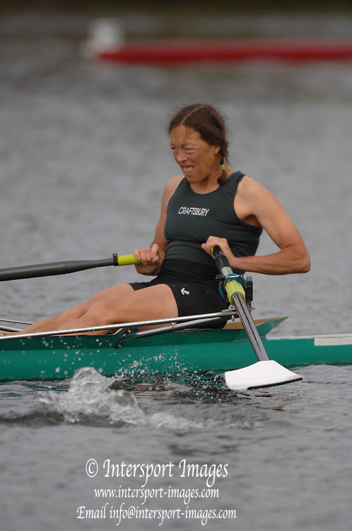 Boston, USA, Grand masters women, Judy GEER, competing in the Head of the Charles, Race Charles River,  Cambridge,  Massachusetts. Sunday  20/10/2007  [Mandatory Credit Peter Spurrier/Intersport Images]..... , Rowing Course; Charles River. Boston. USA