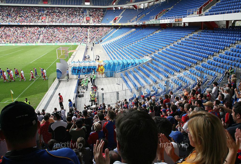 Super League Schweiz 2006/2007  FC Basel 2-1 FC Zuerich Spiel ohne Zuschauer in der -Muttenzener - Kurve-