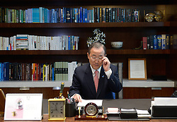 United Nation Secretary General Ban Ki-Moon (R) moves back to the 38th floor office in the glass skyscraper at the UN headquarters in New York, USA, December 17, 2012, Photo by Imago / i-Images...UK ONLY