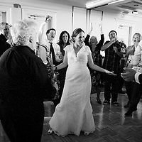 Dancing at a wedding reception in Seattle.