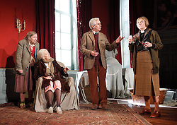 (L to R) In the picture: Linda Bassett,  Frances de la Tour, Nicholas le Provost, Selina Cadell. .People, by Alan Bennett, The Lyttelton Theatre, NT, London, Great Britain, November 7, 2012. Photo by Elliott Franks / i-Images.
