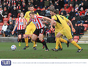 Danny Wright during the Vanarama National League match between Cheltenham Town and Bromley at Whaddon Road, Cheltenham, England on 30 January 2016. Photo by Antony Thompson.