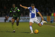 Bristol Rovers Lee Brown (3) on the ball  during the EFL Sky Bet League 1 match between Bristol Rovers and Doncaster Rovers at the Memorial Stadium, Bristol, England on 23 December 2017. Photo by Gary Learmonth.