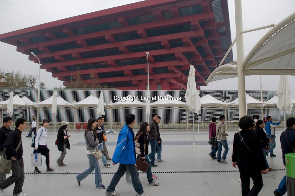 Le pavillon chinois a Shanghai Expo 2010.
