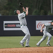 Ohio University faced Liberty University Sunday February 23, 2014 in the Buffalo Wild Wings Battle at the Beach on the campus of the University of North Carolina at Wilmington.  (Jason A. Frizzelle)