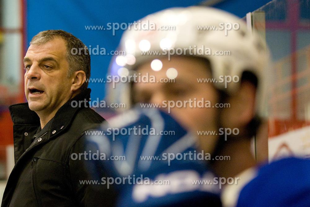 Head Coach of Slovenia Matjaz Kopitar during ice-hockey match between Hungary and Slovenia in European Ice Hockey Challenge, on December 16, 2010 at Podmezaklja hall, Ljubljana, Slovenia. (Photo By Matic Klansek Velej / Sportida.com)