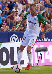 September 30, 2018 - Valencia, U.S. - VALENCIA, SPAIN - SEPTEMBER 30: John Guidetti, forward of Deportivo Alaves with the ball during the La Liga match between Levante UD and Deportivo Alaves at Estadio Ciutat de Valencia on September 30, 2018, in Valencia, Spain. (Photo by Carlos Sanchez Martinez/Icon Sportswire) (Credit Image: © Carlos Sanchez Martinez/Icon SMI via ZUMA Press)