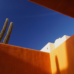 Resort architectural detail on the Baja California Peninsula, Mexico.