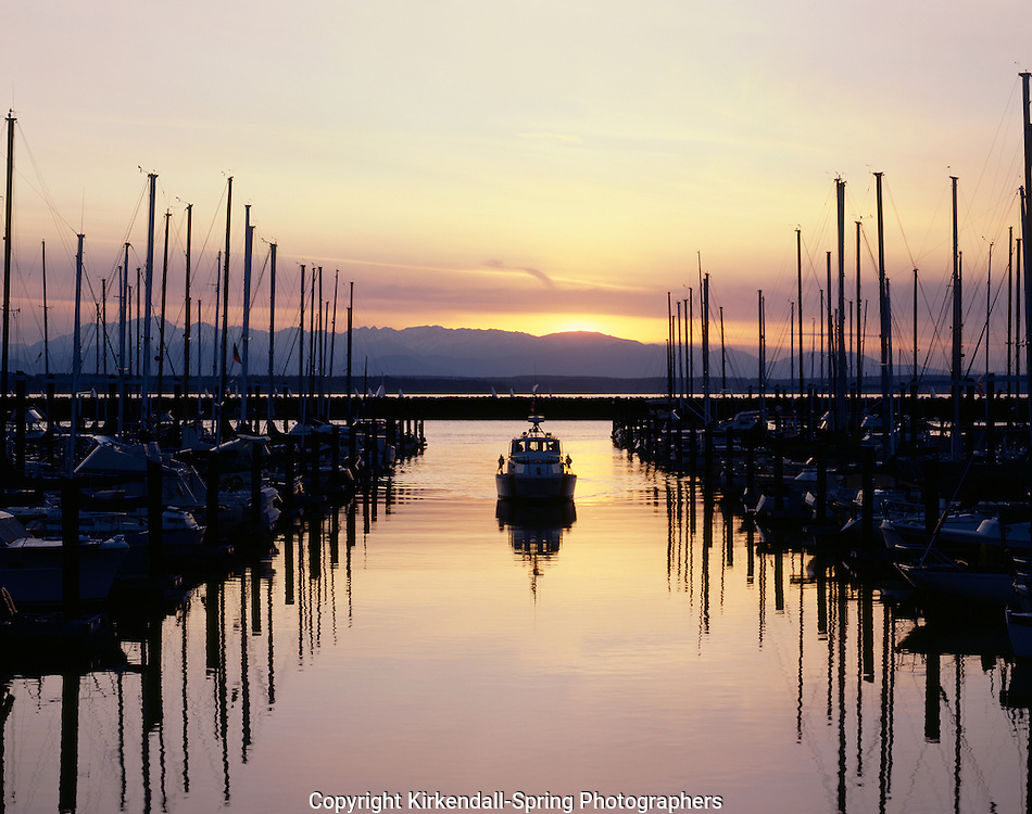 AA00031-01...WASHINGTON - Shilshole Bay Marina on the shores of the Puget Sound in Seattle.