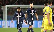 Paris Saint-Germain Zlatan Ibrahimović (vice captain) looks on during the Champions League match between Paris Saint-Germain and Chelsea at Parc des Princes, Paris, France on 17 February 2015. Photo by Phil Duncan.