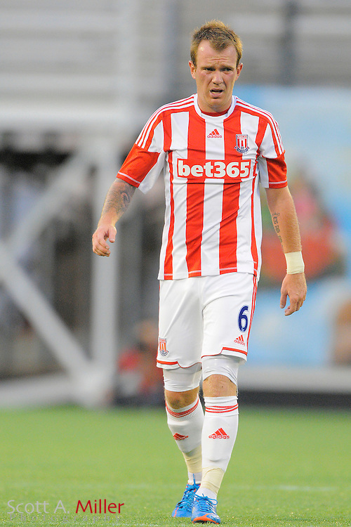 Stoke City Potters midfielder Glenn Whelan (6) during the Potters game against the Orlando City Lions at the Florida Citrus Bowl on July 28, 2012 in Orlando, Florida. Stoke won 1-0...© 2012 Scott A. Miller.