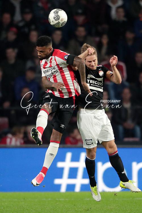 Jurgen Locadia of PSV, Jordens Peters of Willem II