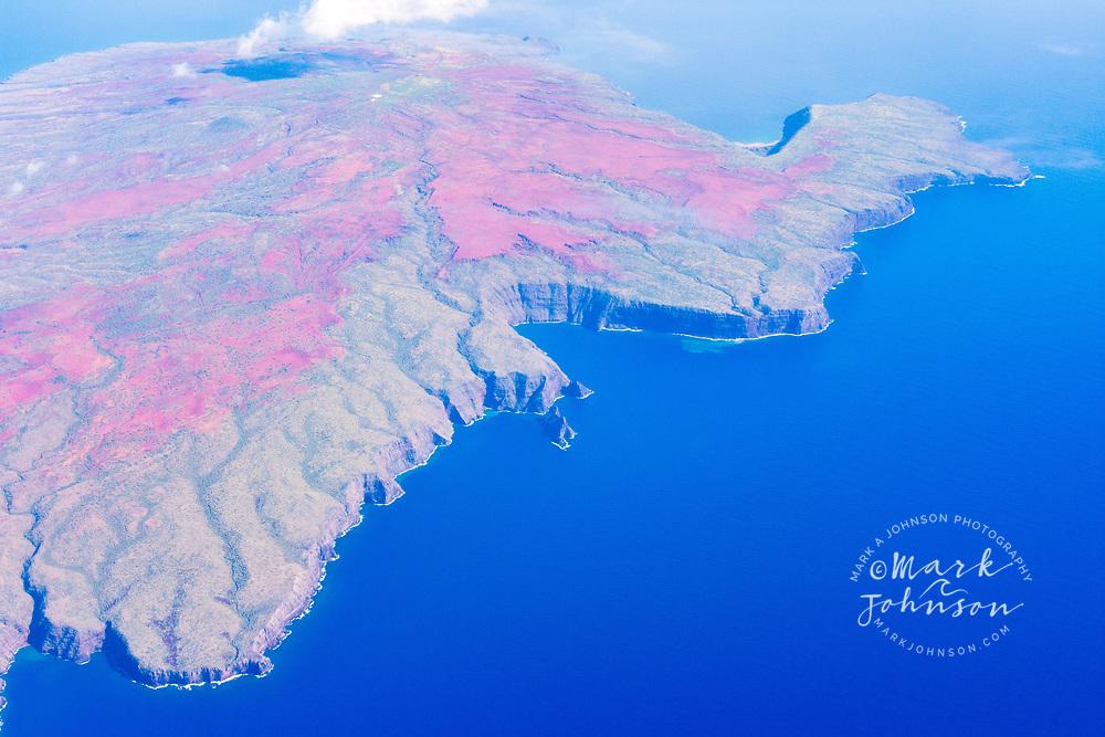 Aerial photograph of Kaho'olawe island, Hawaii, USA
