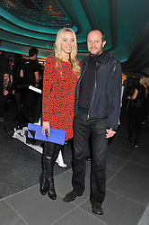 NOELLE RENO and SCOT YOUNG at the launch of famed American fitness club 'Equinox' 99 High Street Kensington, London on 23rd October 2012.