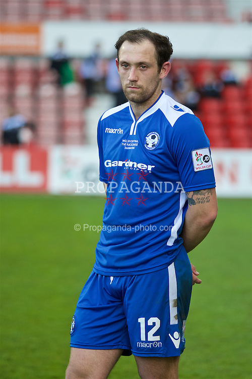 WREXHAM, WALES - Monday, May 2, 2016: Airbus UK Broughton's Jordan Barrow looks dejected after losing 2-0 to The New Saints during the 129th Welsh Cup Final at the Racecourse Ground. (Pic by David Rawcliffe/Propaganda)