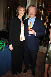 PATRICK & SARAH REARDON he is Kate reardon's father at a party to celebrate the publication of Top Tips For Girls by Kate Reardon held at Claridge's, Brook Street, London on 28th January 2008.<br />