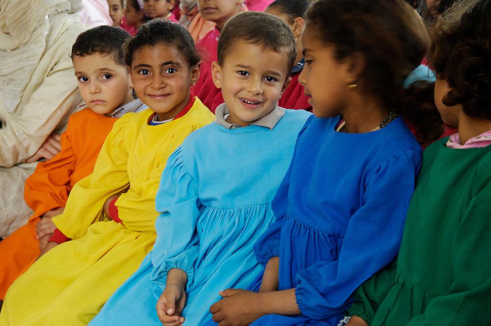 Egypte, Belbeis, 03 mei 2007.Sekem.School.Foto (c) Michiel Wijnbergh.