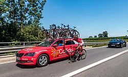 05.07.2017, Altheim, AUT, Ö-Tour, Österreich Radrundfahrt 2017, 3. Etappe von Wieselburg nach Altheim (226,2km), im Bild Jerome Cousin (FRA, Cofidis Solutions Credits) // Jerome Cousin (FRA, Cofidis Solutions Credits) during the 3rd stage from Wieselburg to Altheim (199,6km) of 2017 Tour of Austria. Altheim, Austria on 2017/07/05. EXPA Pictures © 2017, PhotoCredit: EXPA/ JFK