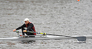 Cambridge, USA, Veteren men's Single 60+, Wiley WAKEMAN, passing Riverside BC., during the  2009 Head of the Charles  Sunday  18/10/2009  [Mandatory Credit Peter Spurrier Intersport Images],.