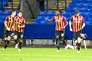 Bradford City goal celebrations form Bradford City defender Paudie O'Connor during the EFL Trophy match between Bolton Wanderers and Bradford City at the University of  Bolton Stadium, Bolton, England on 3 September 2019.