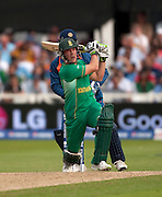 AB de Villiers bats during the ICC World Twenty20 Cup match between South Africa and India at Trent Bridge. Photo © Graham Morris (Tel: +44(0)20 8969 4192 Email: sales@cricketpix.com)
