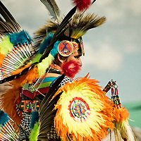 Ceremonial dancer competes at tribal Pow Wow event, Grand Prairie, TX Native American dancer, Texas