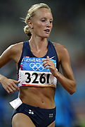 Shalane Flanagan of the United States placed 11th in women's 5,000-meter heat in 15:34.63 in the 2004 Olympics in Athens, Greece on Friday, August 20, 2004.