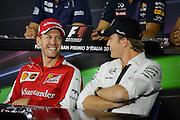 September 3-5, 2015 - Italian Grand Prix at Monza: Sebastian Vettel (GER), Ferrari, Nico Rosberg  (GER), Mercedes
