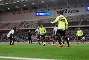 STOCKHOLM, SWEDEN - MARCH 12: Players of BK Hacken during warmup ahead of the Swedish Cup Quarterfinal between Djurgardens IF and BK Hacken at Tele2 Arena on March 12, 2018 in Stockholm, Sweden. Photo by Nils Petter Nilsson/Ombrello<br /> ***BETALBILD***